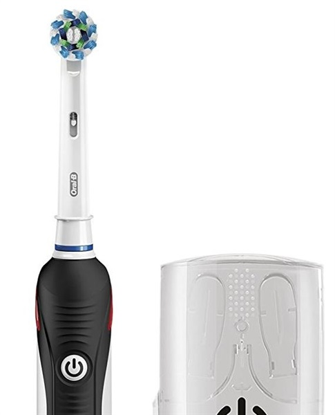 Oral B PRO 2500 CROSS ACTION - Cepillo dental eléctrico pack regalo Color negro