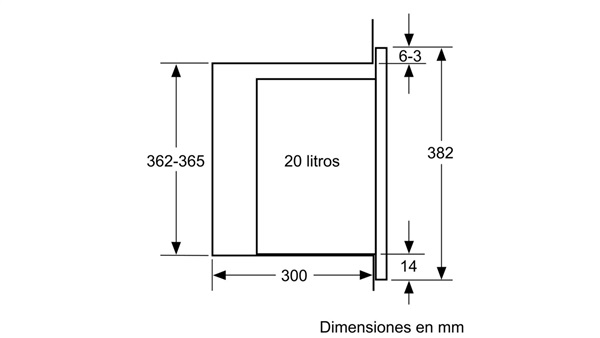 Siemens BF525LMS0 - Microondas Integrable sin Marco 38x60cm Negro