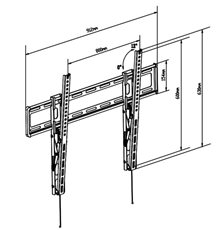"Tm Electron TMSLC130L - Soporte TV de pared para 47"" - 90"" Abatible"