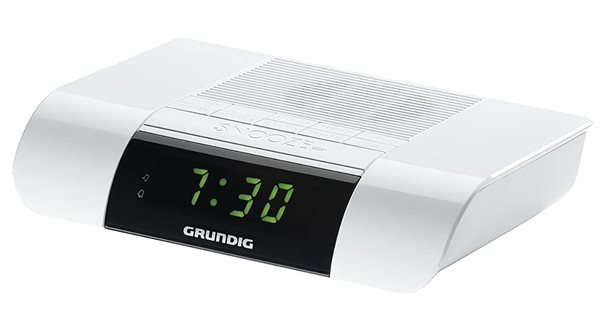Grundig KSC 35W - Radio despertador blanco LED Conexión a red