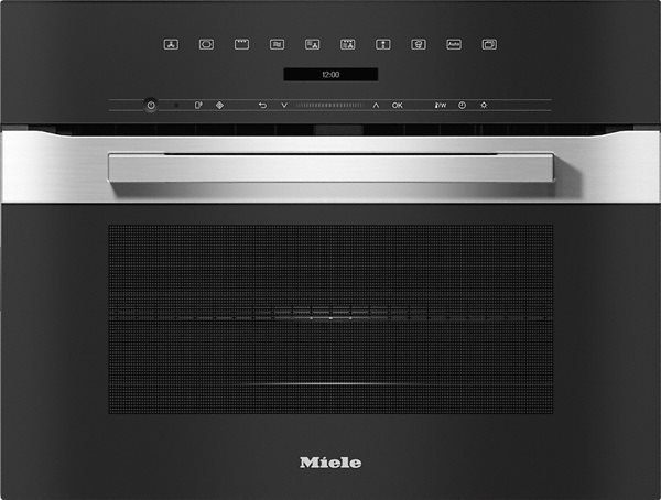 Miele horno compacto con microondas H 7240 BM EDST/CLST Inox CleanSteel