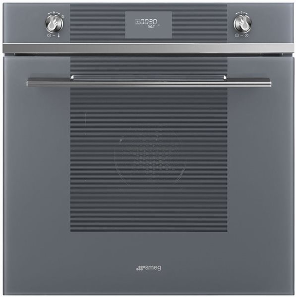 Smeg SF6101VS - Horno Ventilado 60 Cm Clase A Display LED Silver Glass
