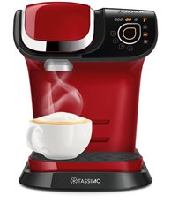 Bosch TAS6003 - Cafetera multibebida TASSIMO MY WAY Color rojo