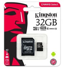 Kingston KI09821 - Tarjeta Micro SD (SDHC) + Adaptador 32GB Clase 10