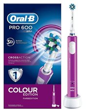 Oral-B PRO 600 CrossAction - Cepillo Dental Eléctrico Morado
