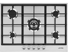 Smeg PX175 - Placa de Gas Natural 72.5 Cm 5 Fuegos Inoxidable