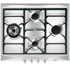 Smeg SR264XGH2 - Placa de Gas Natural 60 Cm 4 Fuegos Inoxidable