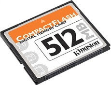 Tarjeta Memoria Kingston CF512 512 Mb Compact Flash