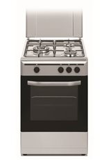 Vitrokitchen CB5530IN - Cocina Gas Natural 3 Fuegos 85 x 50cm Inox