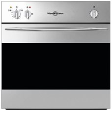 Vitrokitchen HG6IN - Horno de Gas Natural + Grill 50L Color Inox