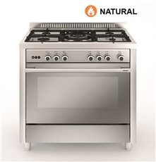 Vitrokitchen MX96IN - Cocina de gas natural Matrix 90x60 Acero Inox