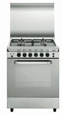 Vitrokitchen UN55IN - Cocina Gas Natural 4 Fuegos 85 x 53cm Inox