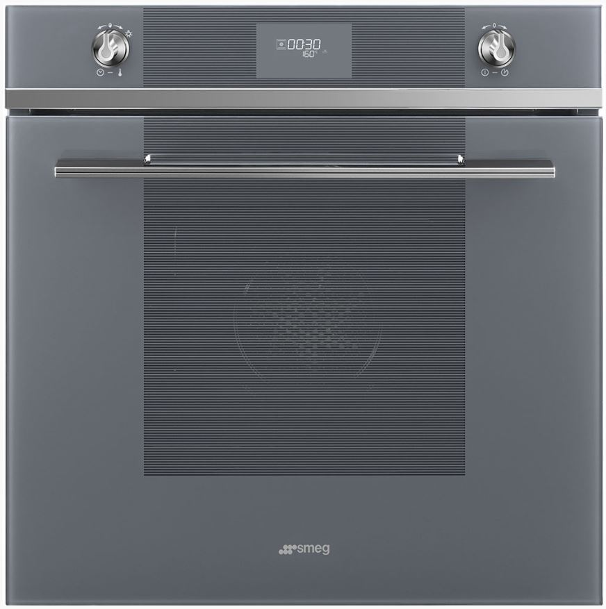 Smeg SF6101VS - Horno Ventilado 60 Cm Clase A Display LED Silver Glass - Zoom