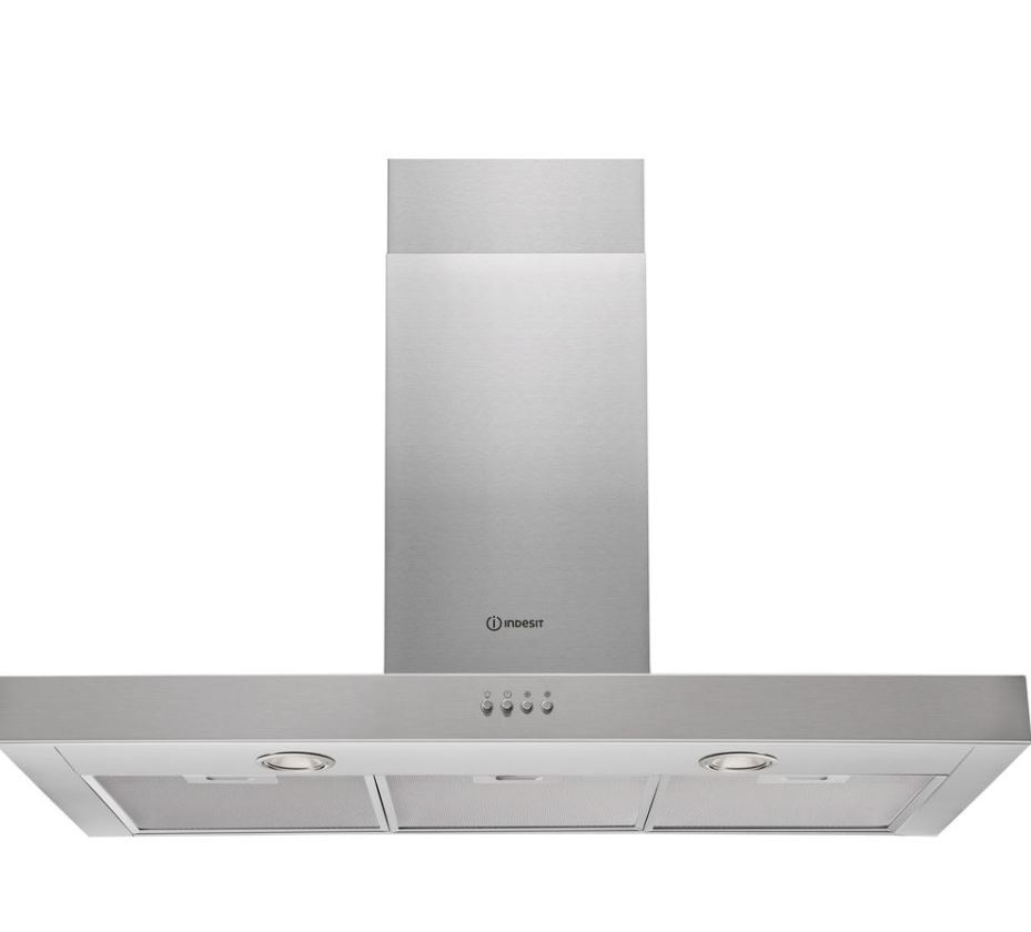 Indesit IHBS95AMX - Campana Decorativa Pared 90 Cm Clase C Inoxidable - Zoom